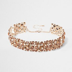 Crystal Chain Thick Chain Choker from River Island R280,00