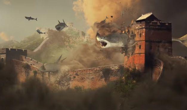 Syfy released  Sharknado 5: Global Swarming Teaser Trailer. Directed by Anthony C. Ferrante. Tara Reid and Ian Ziering will return. - サメの竜巻の猛威が、ついに世界規模に拡大、傍若無人な指導者を抱えた超大国アメリカの横暴を揶揄するスローガンを掲げた「シャークネード」シリーズ第5弾の最新作「グローバル・スウォーミング」の予告編 - 映画 エンタメ セレブ & テレビ の 情報 ニュース from CIA Movie News / CIA こちら映画中央情報局です