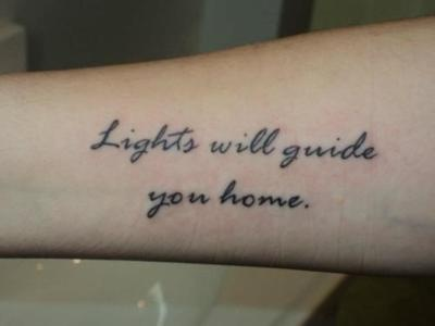 WAIT. A Coldplay tattoo. BRILLIANT.