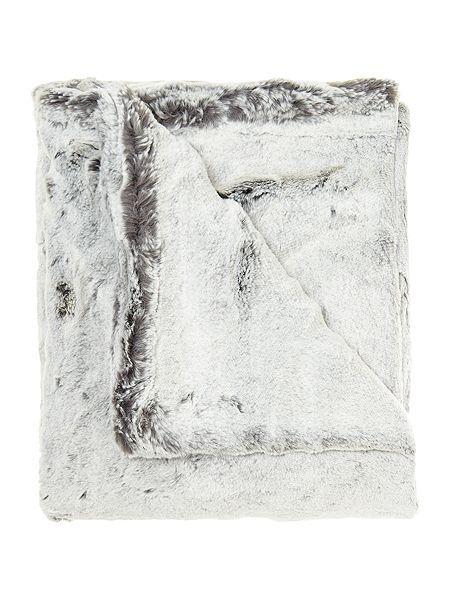 Grey faux fur throw £50 (was £100)