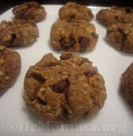 Okay, these are called Major Milk Makin' Lactation Cookies, but I swear they are a delicious cookie for anyone, not just breastfeeding Moms. Full of lots of healthy, good stuff - and chocolate!