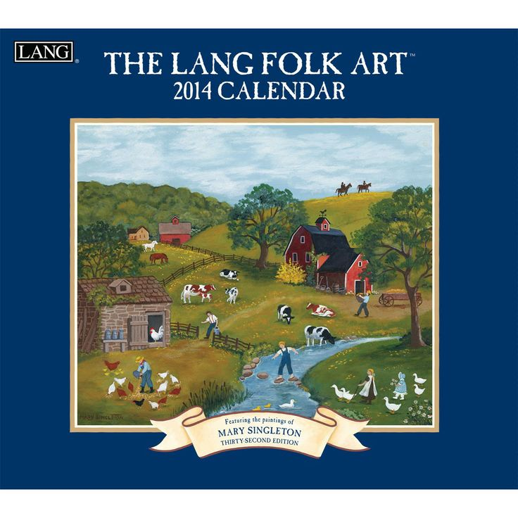 Lang Folk Art Calendar : Best images about wall calendars by lang on