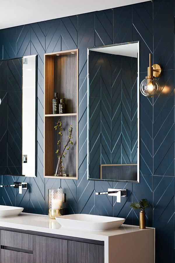 Rose Gold Bathroom Set Blue And Yellow Bathroom Decor Navy Blue And White Bathroom Accessories Bathroom Interior Design Bathroom Style Bathroom Wall Decor