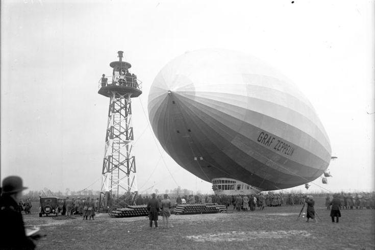 Berlin-Staaken,Landung des Luftschiffs Graf Zeppelin