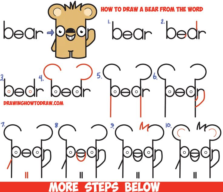 230 best images about drawing with letters numbers and for Cartoon sketches step by step