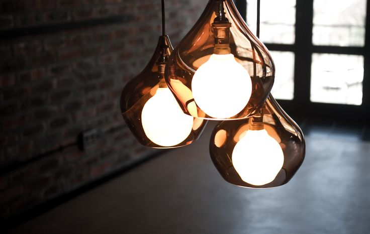 Handblown Glass 60w 240v Available In Brown, Clear, White & Charcoal   http://www.woltemade.co.za/index.html