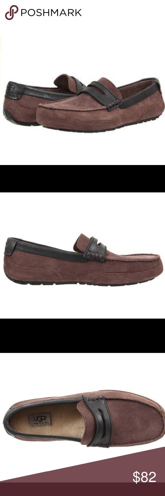New Ugg Tucker moccasin  loafer slip on shoes ❤️☃️ New Ugg Tucker loafer with the comfort of a slipper and looks loafer Size 18 Color brown  Shearling insoles and easy slip on style and molded rubber outsole, all providing a durable and comfortable extended wear!  Finished in nubuck upper, soft suede lining and embossed UGG® logo on the back heel, these relaxed yet rich loafers are comfortable and has an Easy slip on style  Molded rubber outsole Finished in nubuck upper 100% authentic UGG…