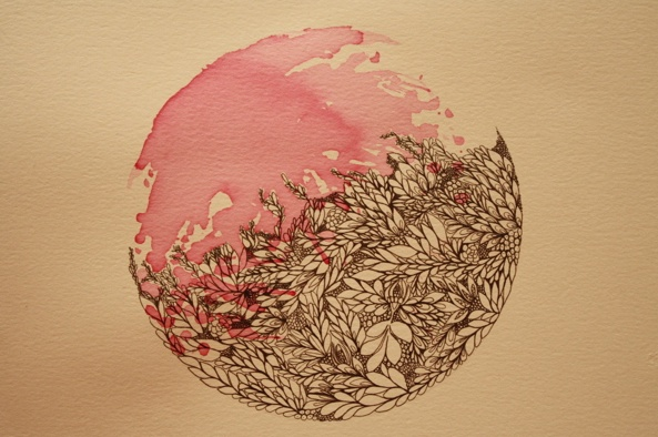 fine line detailing and watercolor, what a fantastic idea for a tattoo!