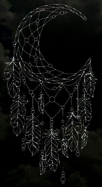 Moon dreamcatcher background