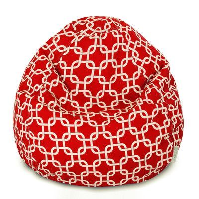 Brayden Studio Danko Geometric Bean Bag Chair Upholstery