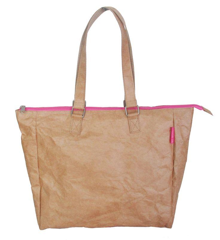 Flat handle buckle pink zip