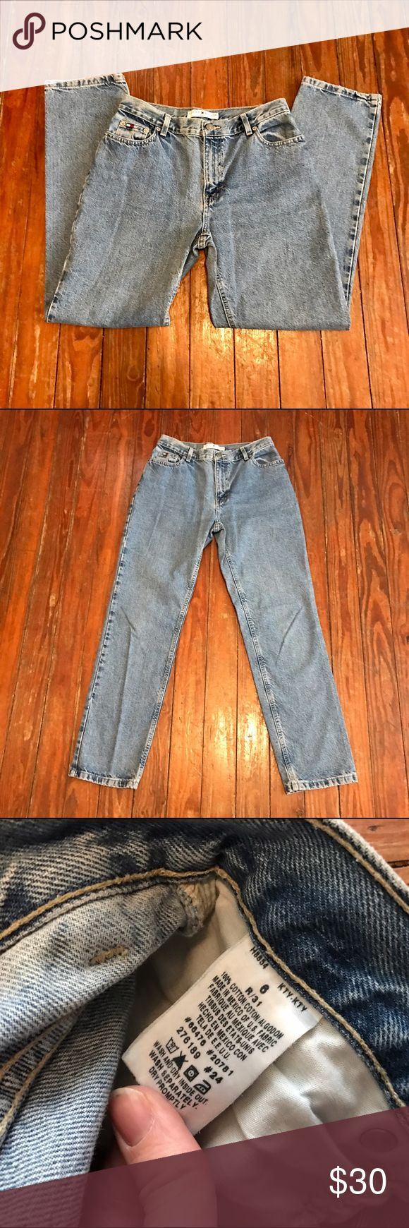 Vintage Tommy Hilfiger High Waisted Jeans size 6 Thank you for looking at my listing!! This listing is for a pair of Vintage Tommy Hilfiger High Waisted Jeans size 6, these jeans are in perfect condition!! If you have any questions about this item feel free to contact me!! Tommy Hilfiger Jeans Straight Leg