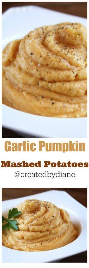 garlic Pumpkin Mashed Potatoes @createdbydiane
