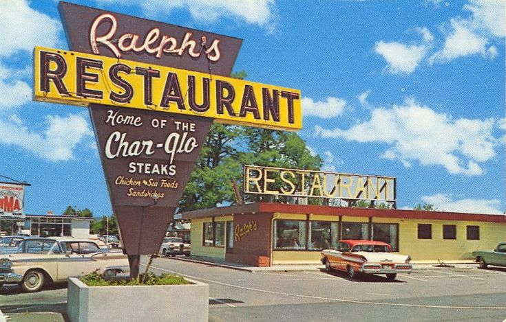RALPH'S RESTAURANT Centralia, Washington In the Great Pacific Northwest Midway between Seattle and Portland  Seafoods - Steaks - Chicken Sandwiches and Fountain. Ralph and Wilma Greenfield