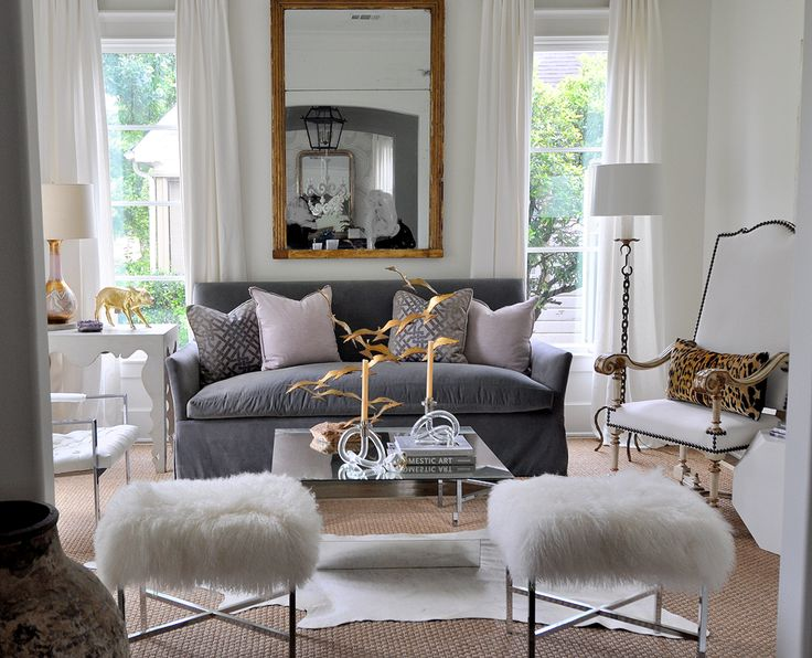 Ottomans, gold accentsDecor, Coffee Tables, White Living, Living Rooms, Sally Wheat, Livingroom, Interiors Design, Grey, Stools