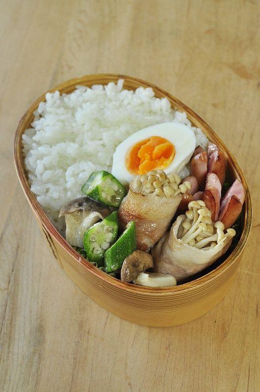 えのき豚弁当の画像:息子&主人へ愛ある健康弁当