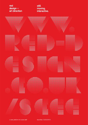 red poster by Chris Welsby