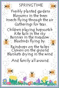 Spring Theme poems