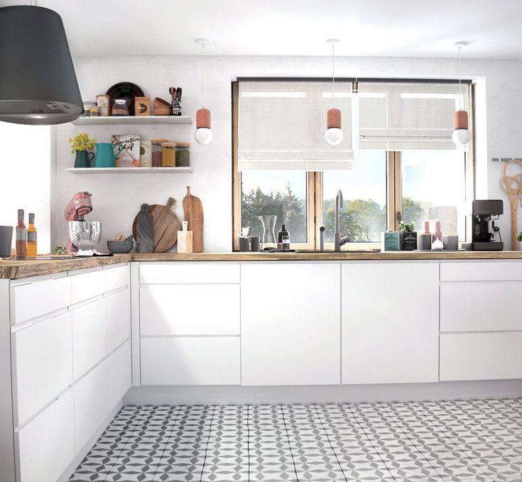 Une Cuisine Blanche Ouverte Sur Le Salon En 2020 Interieur Maison Cuisine Ouverte Sur Salon Decoration Maison