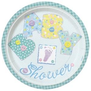 Baby Stitching Baby Shower Dinner Plates