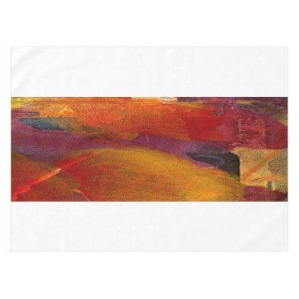 Elegant Monogram Colorful Abstract Art Burgundy Tablecloth - decor gifts diy home & living cyo giftidea