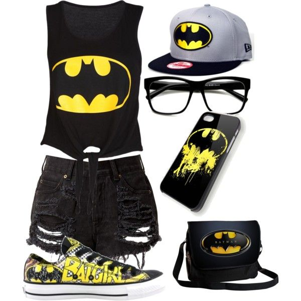 """I AM BATGIRL"" by isabelamandadori on Polyvore: Large Retro Clear Lens Nerd Hipster Wayfarer Glasses 8789"