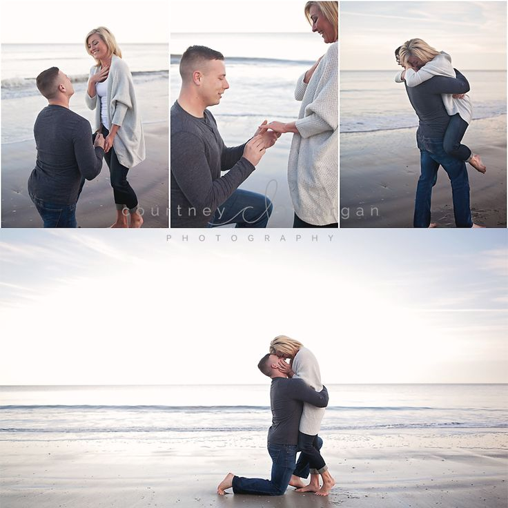 Surprise beach proposal!  Couples beach session
