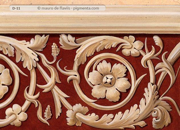 Decorazioni murali grottesche ornamenti classici e for Greche decorative per cucina