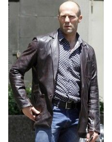 Fast and Furious 7 Jason Statham Brown Leather Jacket #celebrityleatherjacket  http://www.styloleather.com