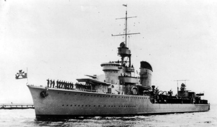 """ORP Grom was the lead ship of her class of destroyers serving in the Polish Navy during World War II. She was named after the Polish word for """"thunderclap""""."""