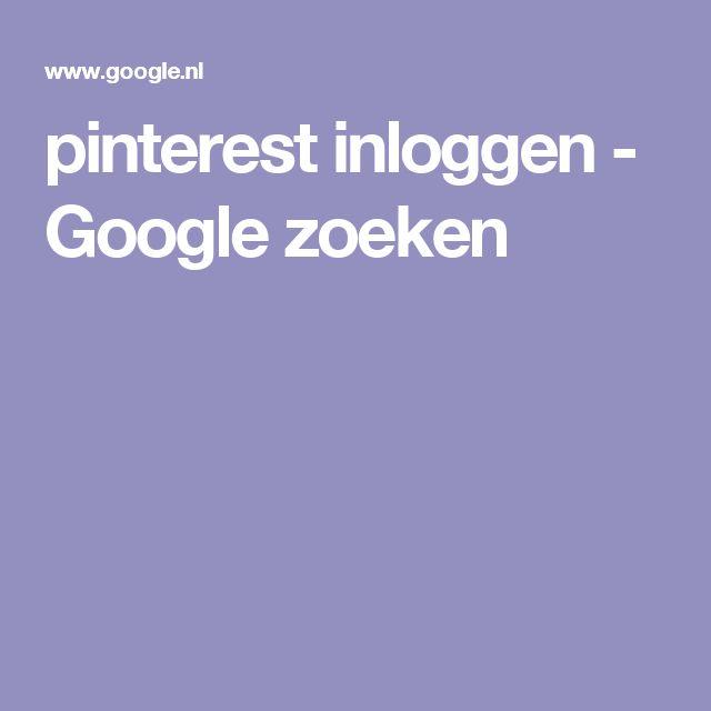 pinterest inloggen - Google zoeken