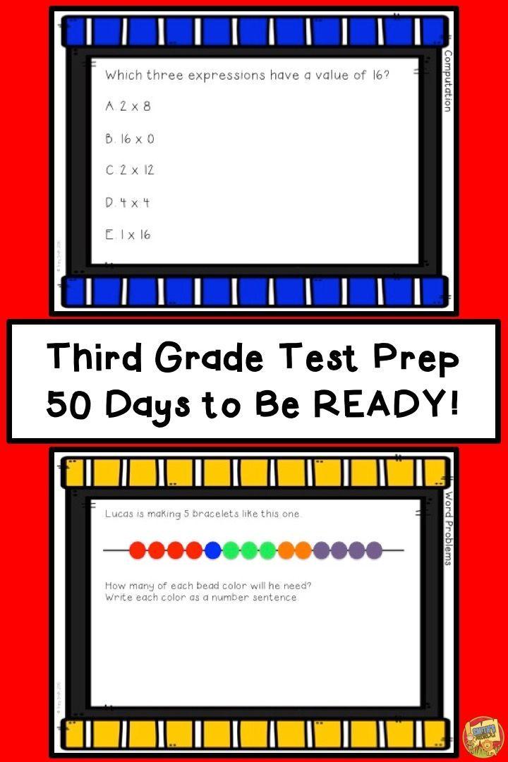 Math Test Prep Third Grade 50 Days To Be Ready Terrific Third