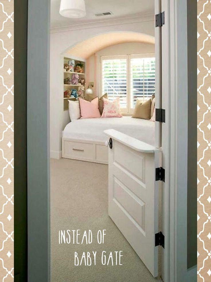 Instead of a baby gate, install a Dutch door