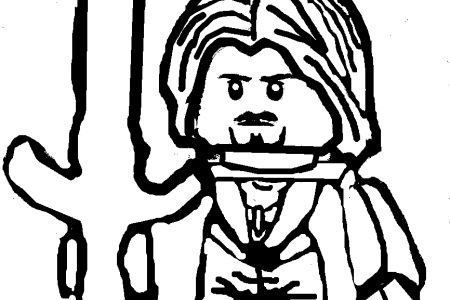 Aragorn LEGO Lord Of The Rings Coloring Page