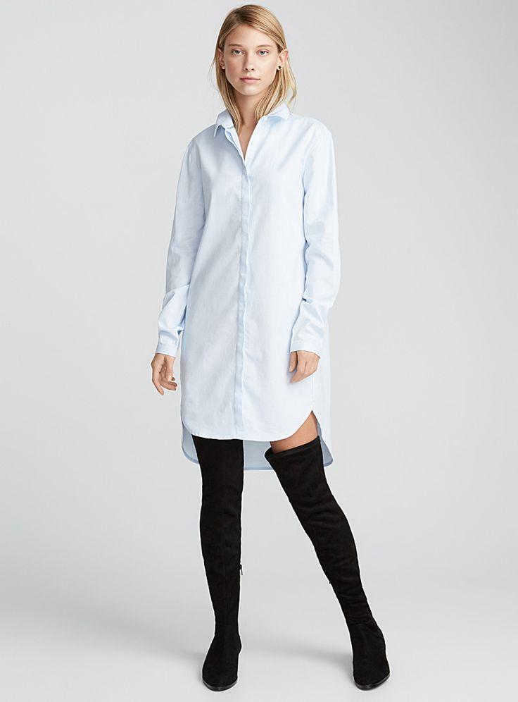 La robe chemise oxford | Twik | Magasinez des Robes Genou | Simons