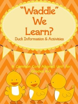 """""""Waddle"""" We Learn?  Duck Information & Activities"""