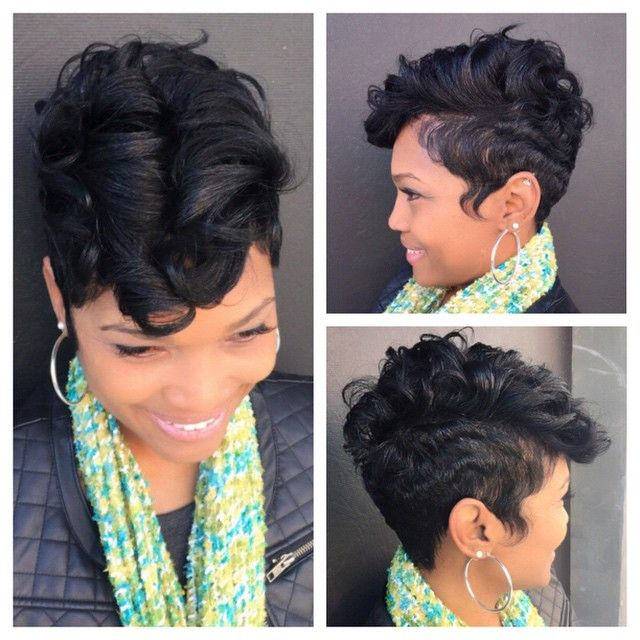 1035 best Short Hairstyles for African American Women images on ...
