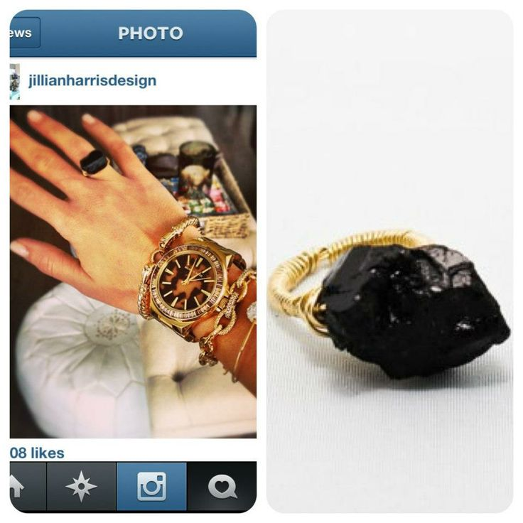 Black Tourmaline Cocktail Ring (As seen on Jillian Harris of the Bachelorette, Love it or List it Vancouver, Charlie Ford Vintage) www.socialexperiment.ca