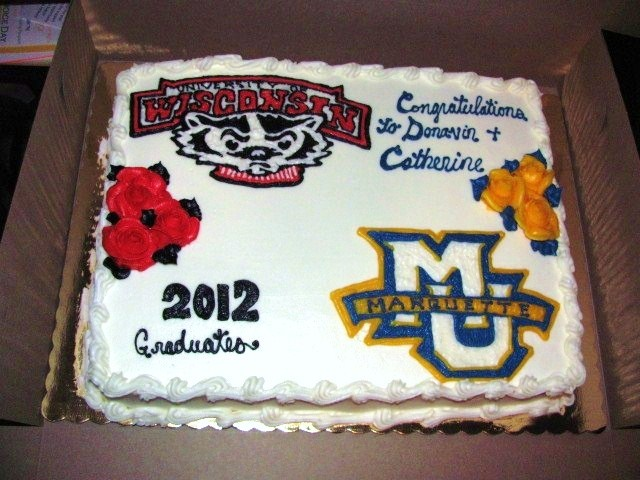 Wisconsin Badgers   Marquette University Cake - Erin Miller Cakes - https://www.facebook.com/erinmillercakes