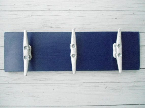 3 boat cleats wall hooks coat rack nautical decor beach house cabin fishing sailing mancave gift for him on Etsy, $35.00