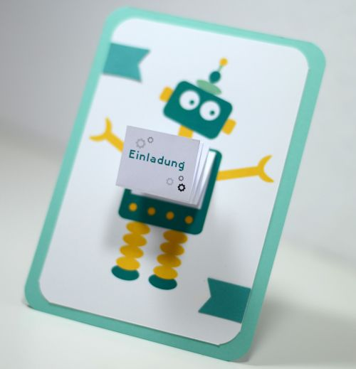 Roboter - Party - Robot - Einladung - Invitation - Geburtstag - Birthday