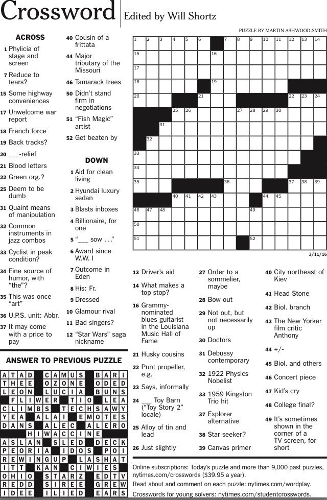 Crafty image inside new york times crossword printable free sunday