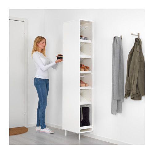MACKAPÄR Shoe organizer IKEA The shelves can be mounted flat or angled so that you can adapt them to the size of the shoes you are storing.