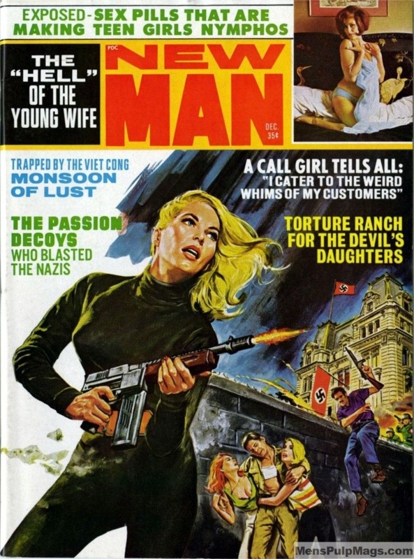 Men's Pulp Adventure Magazines  NEW MAN, December 1968