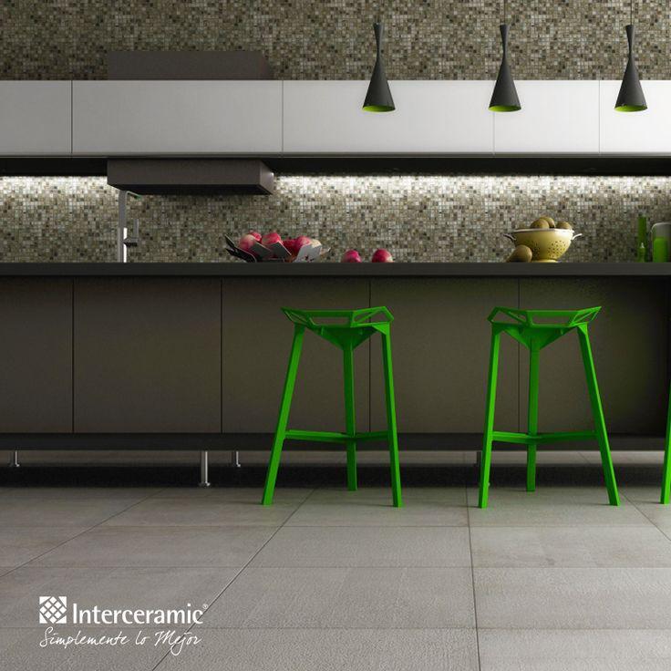 Rompe las reglas del azulejo decora la cocina con - Cocinas con mosaico ...