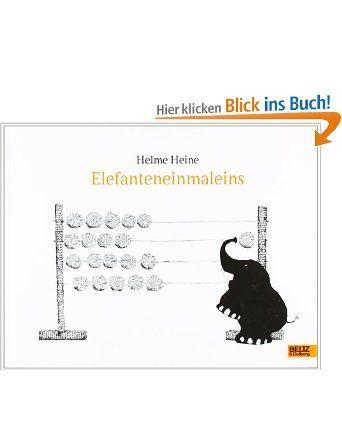 Elefanteneinmaleins: Zweifarbiges Bilderbuch: Amazon.de: Helme Heine: Bücher