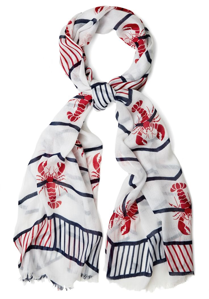 Lobster in Some Style Nautical Scarf | Mod Retro Vintage Scarves | ModCloth.com