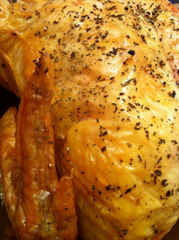 Slow roasted Chicken- So Good for Sunday Dinners!