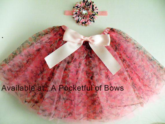 Camo Tutu Skirt Pink Camouflage Tutu Skirt by APocketfulofBows