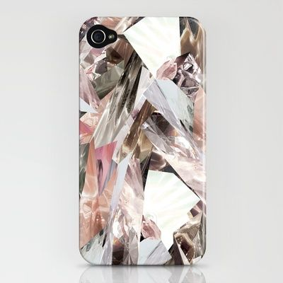 Crystal Pattern iPhone Case by RoandCo: Maybe I would stop losing my phone. #iPhone_Case #RoandCo